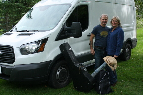 Campbells with van